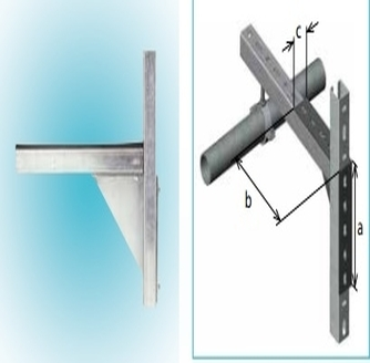 Connection elements _ corner type metal support