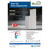 wet type cabinet conditioner ws 2000 sulu tipi pano soğutucular turkey origin